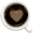 Cup Of Coffee With Prediction of Love vector image