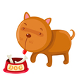 hungry dog vector image vector image