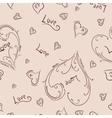 Sketch heart pattern vector image