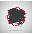 black grunge splash in red frame Modern vector image