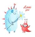 fun loving monsters vector image