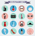 Beauty big icon set vector image