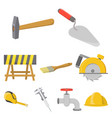 build and repair set icons in cartoon style big vector image