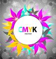 colorful flower card design vector image