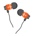 earphones flat icon music and instrument vector image