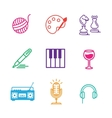 hobby elements vector image