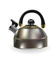 naturalistic silhouette of teapot with whistle on vector image