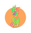 Pineapple fruit colorful art design for summer vector image