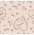 Sketch heart pattern vector image
