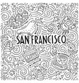 the symbols of san francisco in pattern vector image