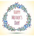 Watercolor Flower Wreath Happy Mothers Day Card vector image