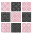 Set of nine seamless patterns vector image