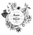 Botanical wedding invitation vector image vector image