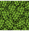 Seamless pattern with green hops vector image