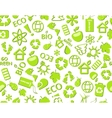 go green eco seamless pattern vector image