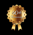 40th Anniversary medal vector image