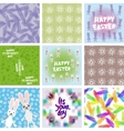 large set of Abstract grunge texture floral vector image