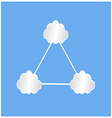 white cloud infographic vector image