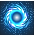 circle blue abstract techno background vector image