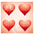 four hearts vector image vector image