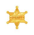 flat design of sheriff s vector image