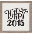 Happy New Year 2015 Greeting Card Template vector image