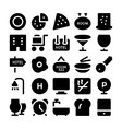Hotel and Restaurant Icons 11 vector image
