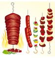 kebabs vector image