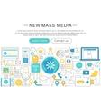 modern line flat design News mass media vector image
