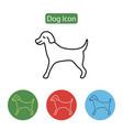 pet dog line icon vector image