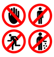 Set ban icons vector image