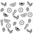 Set collection fruits pattern isolated icon vector image