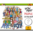 counting people activity vector image vector image