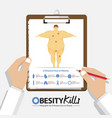 infographic for diseases due to obesity vector image