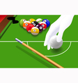 Billiard game vector image