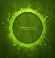 Hand drawn grunge green background vector image vector image