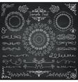 Chalk Drawing Doodle Design Elements vector image vector image