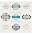 Set of vitage designs logos and banners vector image vector image