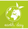 Earth day icon with planet vector image