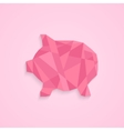 low poly piggy bank vector image