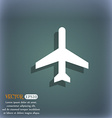 Plane icon On the blue-green abstract background vector image