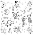 Doodle galaxy a funny vector image