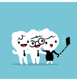 three business people taking a selfie vector image