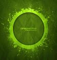 Hand drawn grunge green background vector image