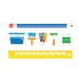 Painting work decorative icons set vector image