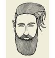 portrait of moustached man vector image