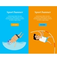 Swimming and Pole Vault Sports Banners vector image