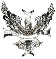 eagles cross and shield emblem vector image