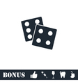 Dices icon flat vector image