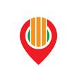 abstract pin arrow business logo vector image